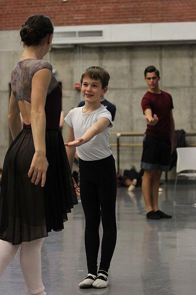 boys in a dance class