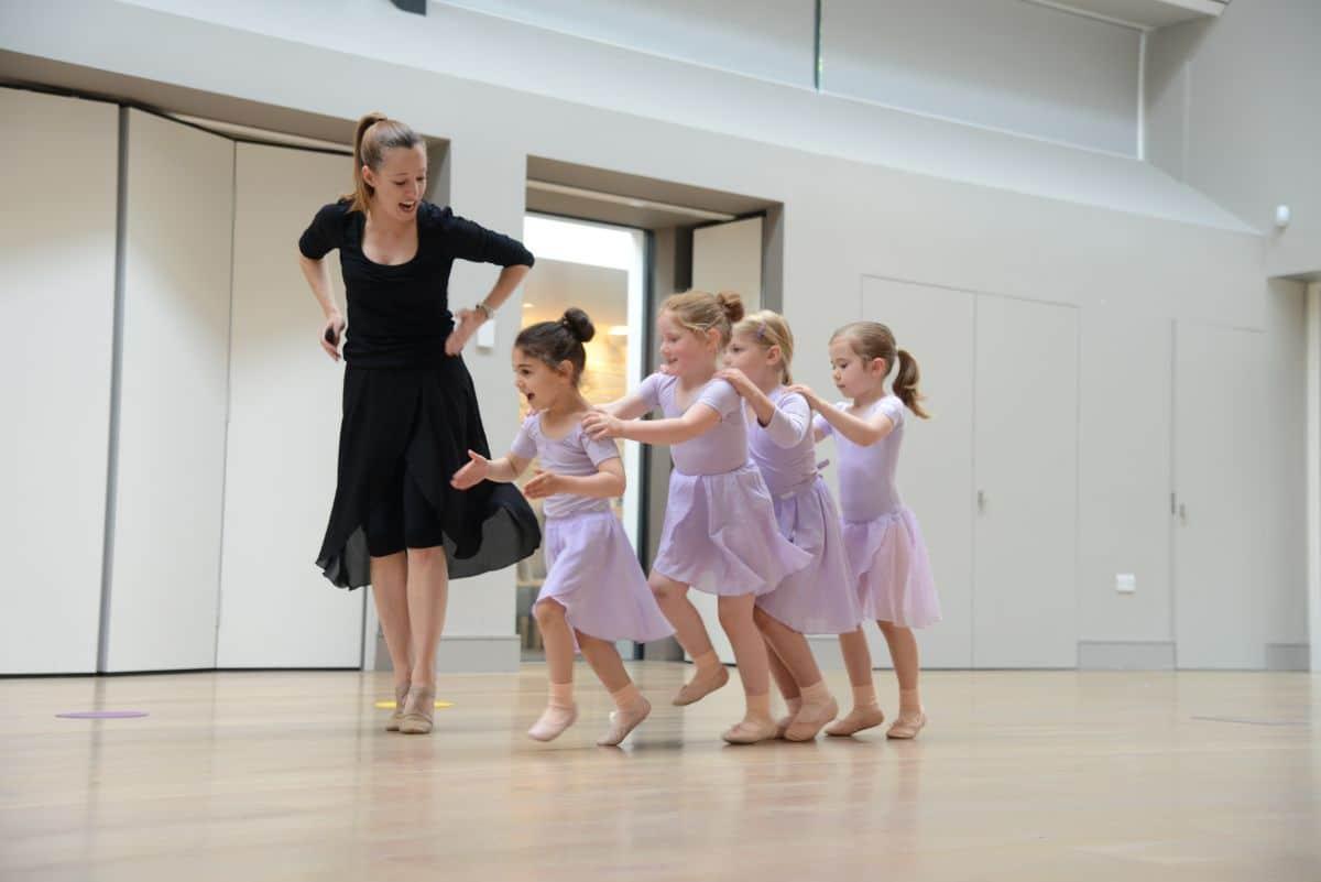 children doing a ballet class